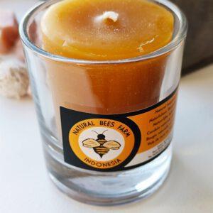 Bijenwas kaarsje in glas